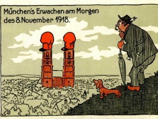 Postkarte: München's Erwachen am Morgen