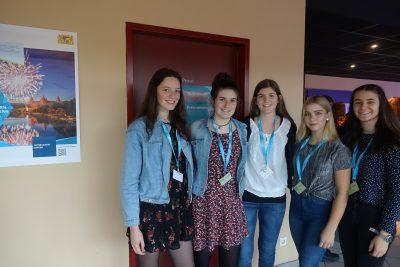 Vier Teilnehmerinnen des Filmfestivals