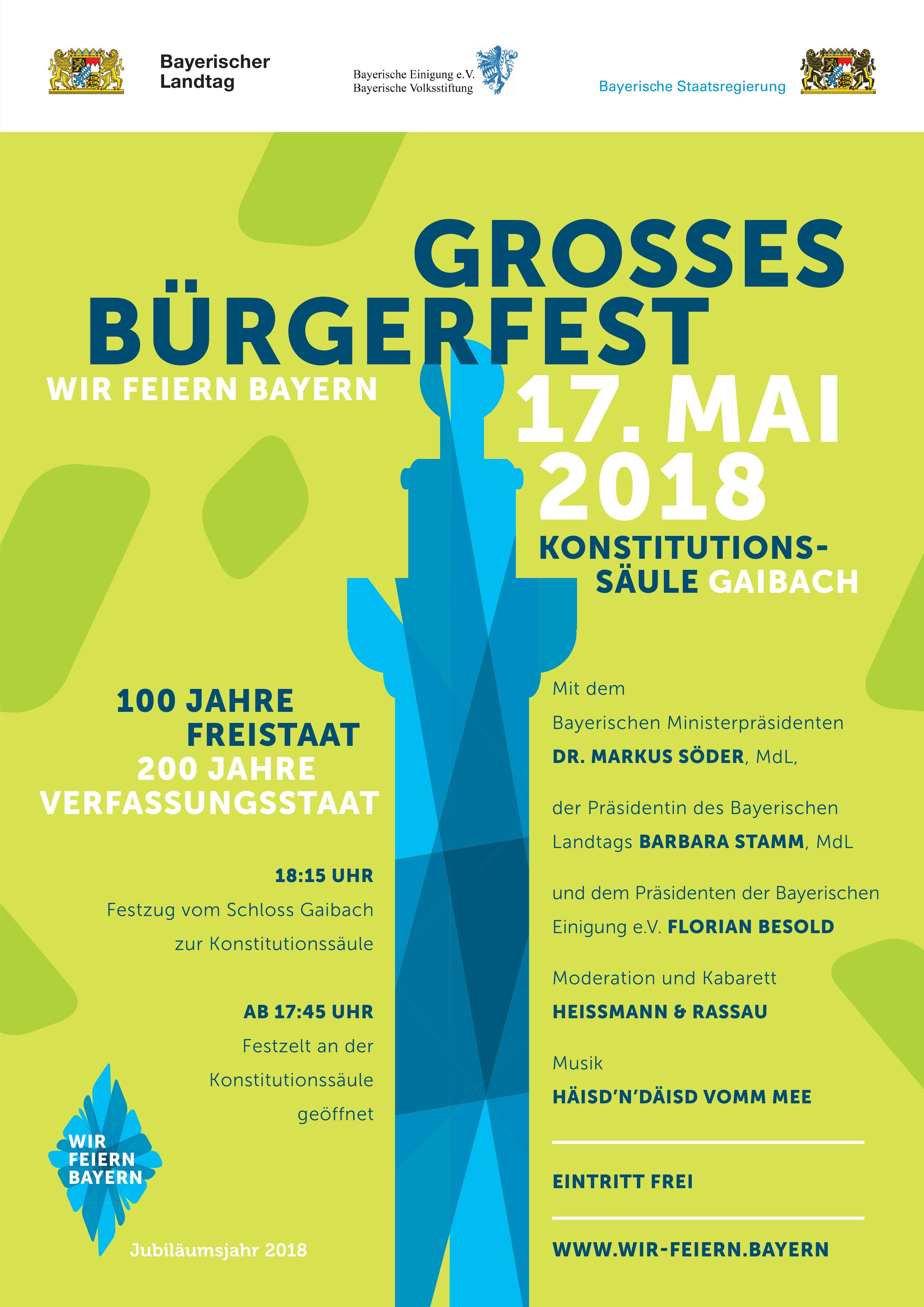 Plakat Bürgerfest Gaibach