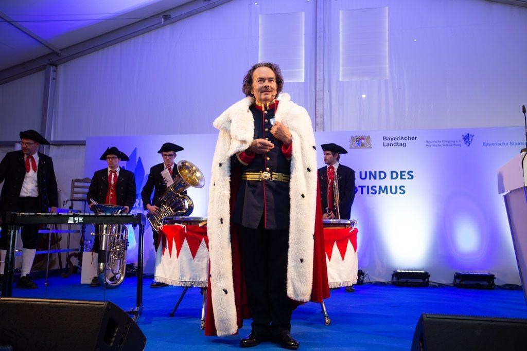 Stockerl als König Ludwig