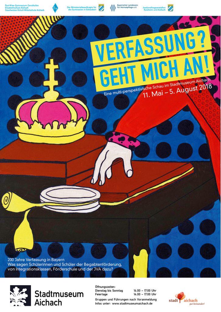 """Plakat zur Ausstellung """"Verfassung? geht mich an!"""