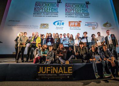 Gewinner-Gruppenfoto vom Filmfest